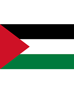 Flag: Palestine |  landscape flag | 1.35m² | 14.5sqft | 90x150cm | 3x5ft