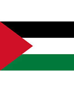 Flag: Palestine |  landscape flag | 1.5m² | 16sqft | 100x150cm | 3.5x5ft