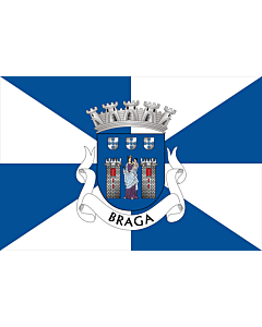 Flag: Braga District |  landscape flag | 0.24m² | 2.5sqft | 40x60cm | 1.3x2foot