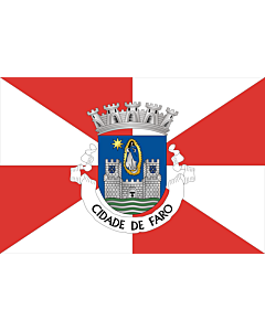 Flag: Faro District |  landscape flag | 0.24m² | 2.5sqft | 40x60cm | 1.3x2foot