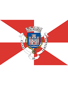 Flag: Santarém District |  landscape flag | 6m² | 64sqft | 200x300cm | 6x10ft