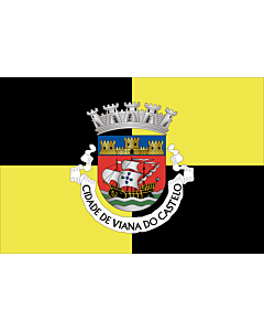Flag: Viana do Castelo District |  landscape flag | 6.7m² | 72sqft | 200x335cm | 6x11ft