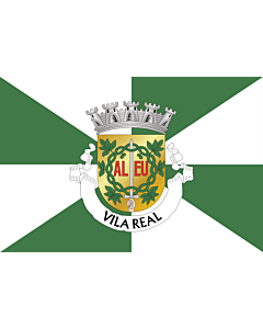 Flag: Vila Real District |  landscape flag | 6.7m² | 72sqft | 200x335cm | 6x11ft