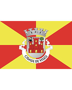 Flag: Viseu District |  landscape flag | 0.24m² | 2.5sqft | 40x60cm | 1.3x2foot