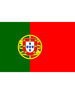 Flag: Portugal |  landscape flag | 0.7m² | 7.5sqft | 70x100cm | 2x3ft