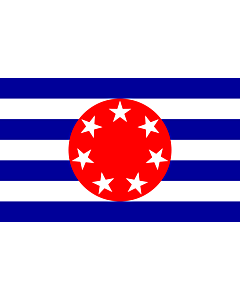 Flag: Ngarchelong  previous flag for state within Palau  - colours and dimensions based on template at Ngarchelong |  landscape flag | 1.35m² | 14.5sqft | 90x150cm | 3x5ft