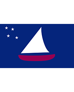 Flag: Sonsorol  state within Palau  - colours and dimensions based partly on templates such as Sonsorol |  landscape flag | 2.16m² | 23sqft | 120x180cm | 4x6ft