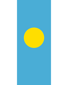 Vertical Hanging Beam Flag: Palau |  portrait flag | 3.5m² | 38sqft | 300x120cm | 10x4ft
