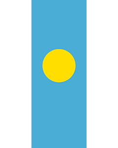 Vertical Hanging Beam Flag: Palau |  portrait flag | 6m² | 64sqft | 400x150cm | 13x5ft