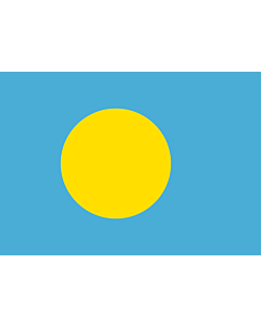 Flag: Palau |  landscape flag | 0.7m² | 7.5sqft | 70x100cm | 2x3ft