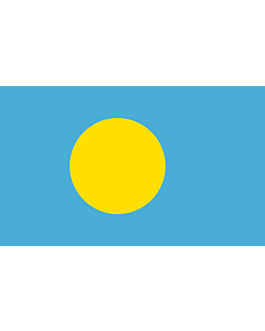 Flag: Palau |  landscape flag | 1.35m² | 14.5sqft | 90x150cm | 3x5ft