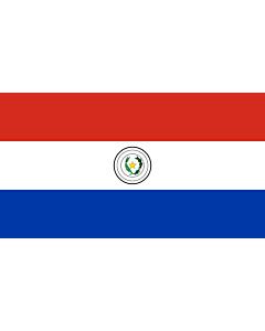Flag: Paraguay |  landscape flag | 0.06m² | 0.65sqft | 18x33cm | 7x13inch