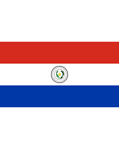 Flag: Paraguay |  landscape flag | 6.7m² | 72sqft | 190x350cm | 75x140inch