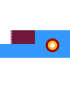 Bandera: Qatar Air Force | En Qatar Air Force Photo |  bandera paisaje | 1.35m² | 70x190cm