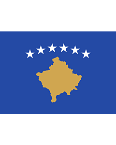 Flag: Kosovo |  landscape flag | 0.135m² | 1.5sqft | 30x45cm | 1x1.5foot