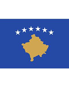 Flag: Kosovo |  landscape flag | 1.35m² | 14.5sqft | 90x150cm | 3x5ft