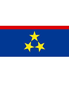 Bandera: Vojvodina |  bandera paisaje | 0.06m² | 17x34cm