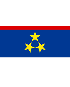 Bandera: Vojvodina |  bandera paisaje | 1.35m² | 80x160cm