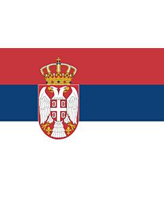 Indoor-Flag: Serbia 90x150cm