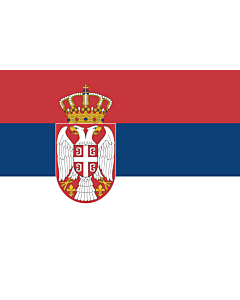 Bandera: Serbia |  bandera paisaje | 0.375m² | 50x75cm