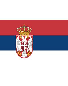 Flag: Serbia |  landscape flag | 0.7m² | 7.5sqft | 70x100cm | 2x3ft
