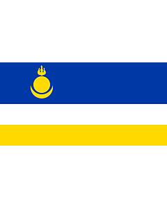 Flagge: XXS Buryatia  |  Querformat Fahne | 0.24m² | 35x70cm