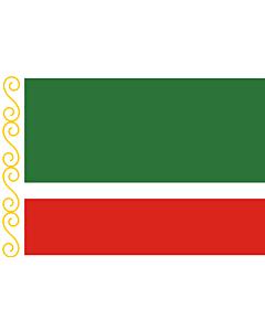 Flagge: XXS Tschetschenien (Tschetschenische Republik)  |  Querformat Fahne | 0.24m² | 40x60cm