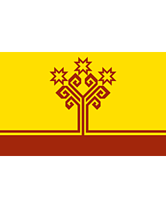 Flagge: XXS Chuvash  |  Querformat Fahne | 0.24m² | 40x60cm