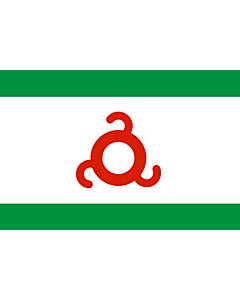 Flagge: XXS Inguschetien  |  Querformat Fahne | 0.24m² | 40x60cm