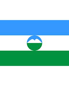 Flagge: XXS Kabardino-Balkarien  |  Querformat Fahne | 0.24m² | 40x60cm