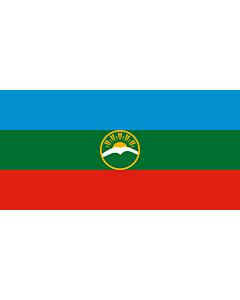 Flagge: XXS Karatschai-Tscherkessien  |  Querformat Fahne | 0.24m² | 35x70cm