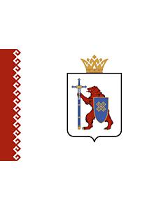 Flagge: XXS Republik Mari El  |  Querformat Fahne | 0.24m² | 40x60cm
