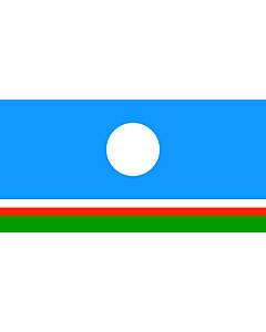 Flagge: XXS Sakha (Yakutia)  |  Querformat Fahne | 0.24m² | 35x70cm