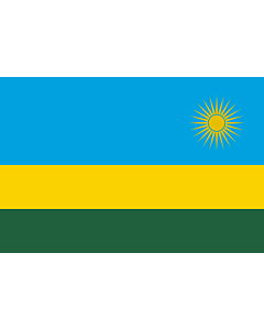 Flagge: XS Ruanda  |  Querformat Fahne | 0.375m² | 50x75cm