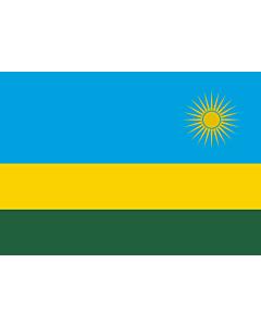 Drapeau: Rwanda |  drapeau paysage | 0.7m² | 70x100cm