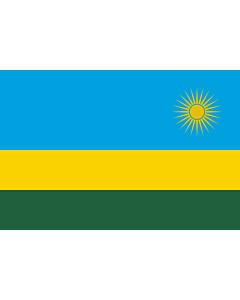 Flagge: Medium Ruanda  |  Querformat Fahne | 0.96m² | 80x120cm