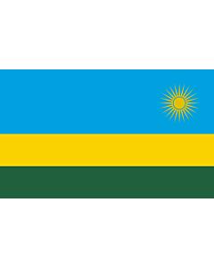 Flagge: XL+ Ruanda  |  Querformat Fahne | 2.4m² | 120x200cm