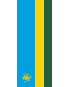 Vertical Hanging Swivel Crossbar Banner Flag: Rwanda |  portrait flag | 3.5m² | 38sqft | 300x120cm | 10x4ft