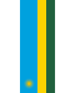 Vertical Hanging Swivel Crossbar Banner Flag: Rwanda |  portrait flag | 6m² | 64sqft | 400x150cm | 13x5ft