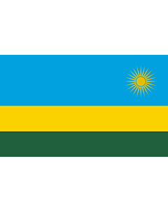 Table-Flag / Desk-Flag: Rwanda 15x25cm