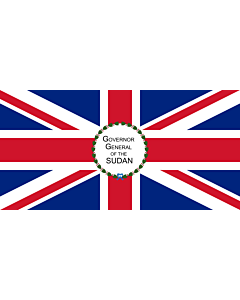 Bandera: Governor-General of the Anglo-Egyptian Sudan |  bandera paisaje | 1.35m² | 80x160cm