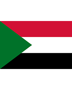 Flag: Sudan |  landscape flag | 0.06m² | 0.65sqft | 20x30cm | 8x12in