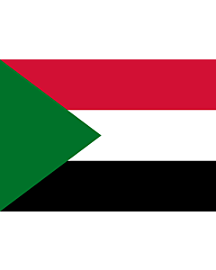 Flag: Sudan |  landscape flag | 0.7m² | 7.5sqft | 70x100cm | 2x3ft