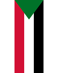 Vertical Hanging Beam Flag: Sudan |  portrait flag | 3.5m² | 38sqft | 300x120cm | 10x4ft