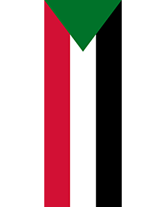 Vertical Hanging Beam Flag: Sudan |  portrait flag | 6m² | 64sqft | 400x150cm | 13x5ft