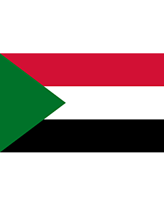 Indoor-Flag: Sudan 90x150cm