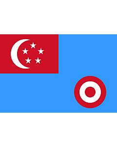 Drapeau: Air Force Ensign of Singapore 1968-1973 |  drapeau paysage | 1.35m² | 90x150cm