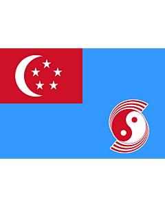 Drapeau: Air Force Ensign of Singapore 1973-1990 |  drapeau paysage | 1.35m² | 90x150cm