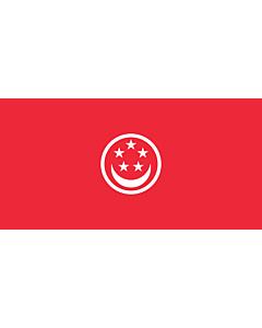 Drapeau: Civil Ensign of Singapore |  drapeau paysage | 1.35m² | 80x160cm