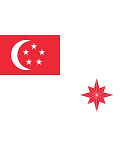 Drapeau: Naval Ensign of Singapore |  drapeau paysage | 1.35m² | 80x160cm
